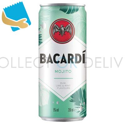 Bacardí Mojito Rum Mixed Drink 250Ml