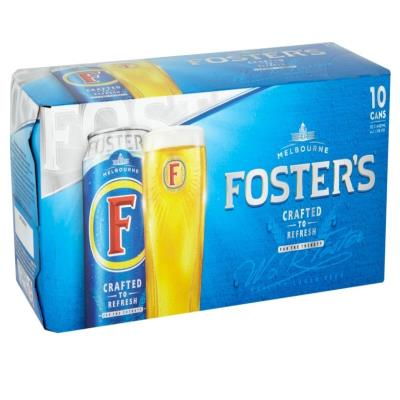 Foster's Lager Beer Cans 10X440ml