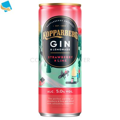 Kopparberg Gin & Lemonade Strawberry & Lime 250Ml