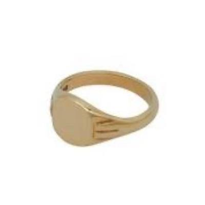 Cushion Head Heavy Weight 9Ct Yellow Gold Signet Ring
