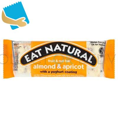 Eat Natural Fruit & Nut Bar Almond & Apricot With A Yoghurt Coating 50G
