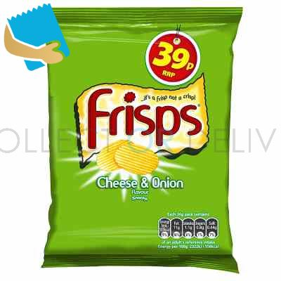 Frisps Cheese & Onion Flavour Snacks 34g