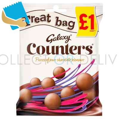 Galaxy Counters Chocolate Treat Bag 78G