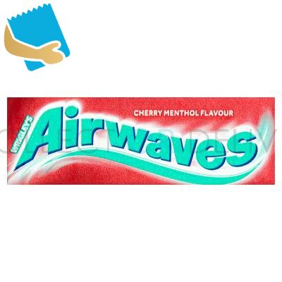 Airwaves Cherry Menthol Sugar Free Chewing Gum 10 Pieces