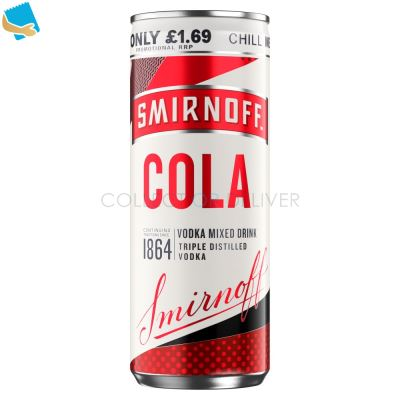 Smirnoff & Cola Vodka Mixed Drink 250Ml