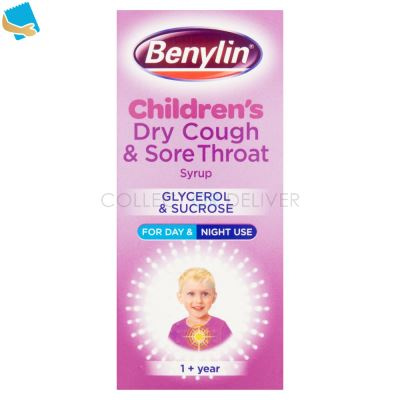Benylin Children's Dry Cough & Sore Throat Syrup 1+ Year 125ml