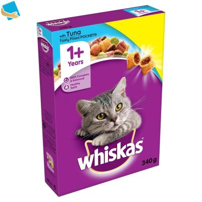 Whiskas 1+ Complete Dry Cat Food with Tuna 340g