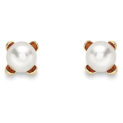 9Ct Round Shaped Freshwater Pearl Earrings