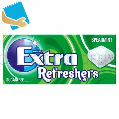 Extra Refreshers Spearmint Sugar Free Chewing Gum Handy Box Cs