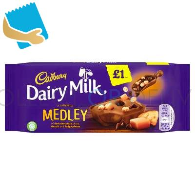 Cadbury Dairy Milk Medley Fudge Chocolate Bar 93G