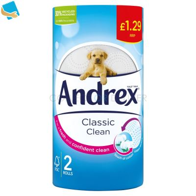 Andrex Classic Clean Toilet Tissue 2 Rolls X 12 200Sc