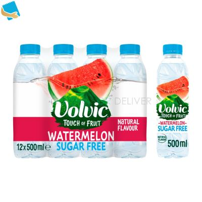 Volvic Touch of Fruit Sugar Free Watermelon Natural Flavoured Water 12 x 500ml