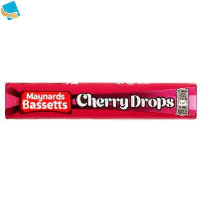 Maynards Bassetts Cherry Drops Sweets Roll 45G