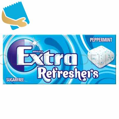 Extra Refreshers Peppermint Sugar Free Chewing Gum Handy Box Cs