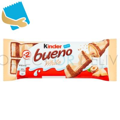 Kinder Bueno White Milk And Hazelnuts 39G