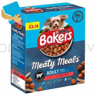 BAKERS Meaty Meals Adult Beef Dry Dog Food 1kg