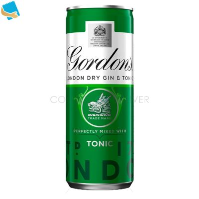 Gordon's London Dry Gin With Tonic 250Ml Ready To Drink Premix Can