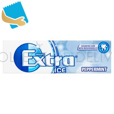 Extra Ice Peppermint Chewing Gum Sugar Free 10 Pieces