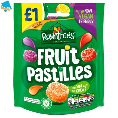 Rowntree's Fruit Pastilles Vegan Friendly Sweets Sharing Pouch 120G