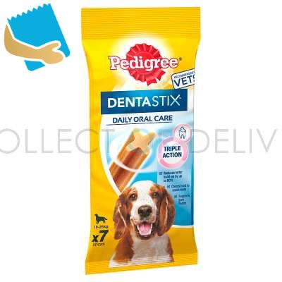 Pedigree Dentastix Daily Adult Medium Dog Dental Treats 7 Sticks 180G
