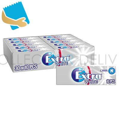 Extra White Chewing Gum Sugar Free 10 Pieces