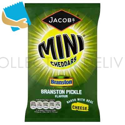 Jacob's Mini Cheddars Branston Pickle Flavour Cheese Snacks 50G
