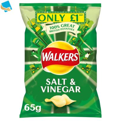 Walkers Salt & Vinegar Crisps 65G