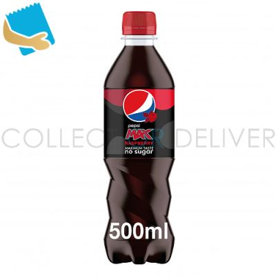 Pepsi Max Raspberry Cola 12 X 500Ml