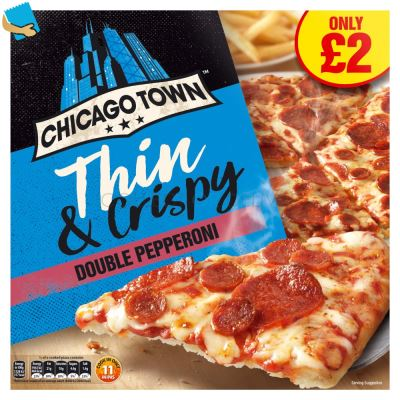 Chicago Town The Thin One Double Pepperoni Pizza 305g ()