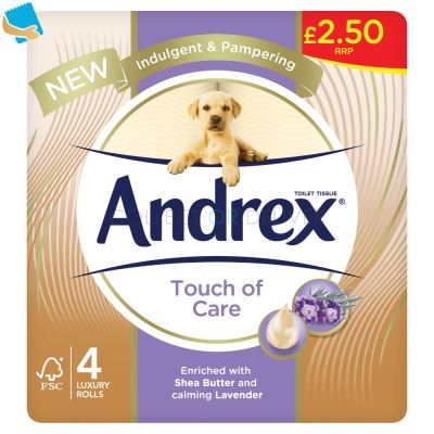 Andrex Touch Of Care 4 Rolls