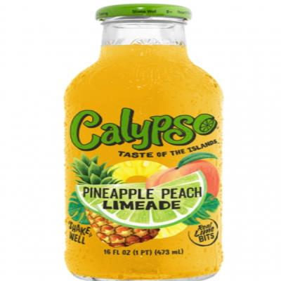 Calypso Pineapple Peach Limeade Glass Bottles