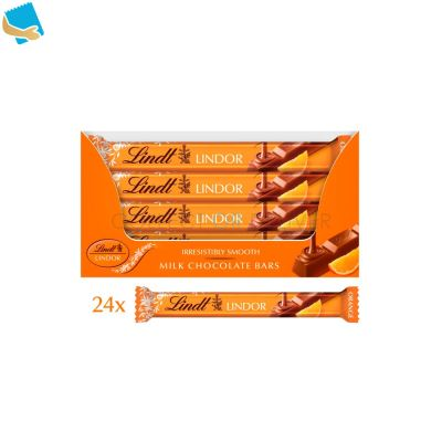 Lindt Lindor Orange Milk Chocolate Bar 38G