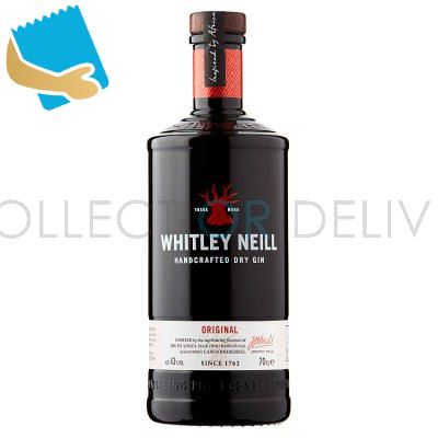 Whitley Neill Handcrafted Dry Gin Original 70cl