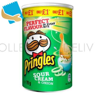 Pringles Sour Cream & Onion Crisps 70G