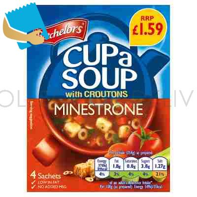 Batchelors Cup A Soup With Croutons Minestrone 4 Sachets 94G