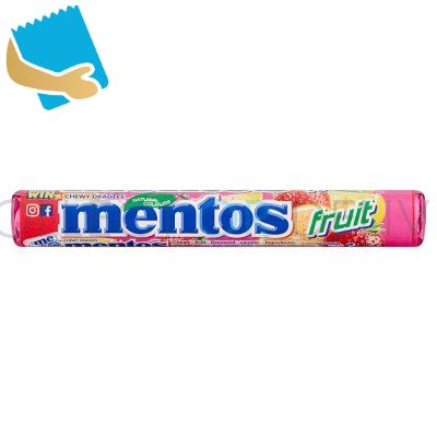Mentos Fruit Chewy Dragees 38G