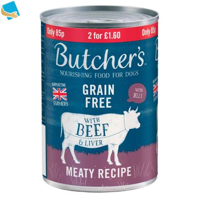 Butcher's Nourishing Food For Dogs With Beef & Liver 400G