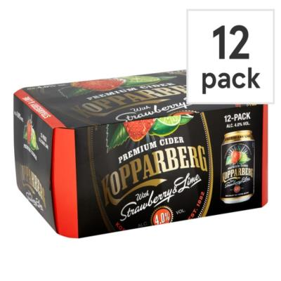 Kopparberg Strawberry & Lime 12X330ml Can