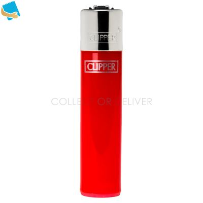 Clipper Solid Colour Silver Top Lighter
