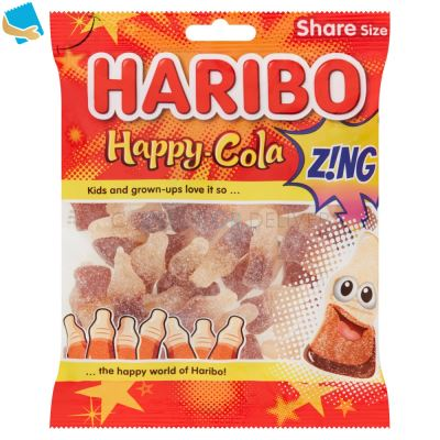 HARIBO Happy Cola Z!NG Bag 160G