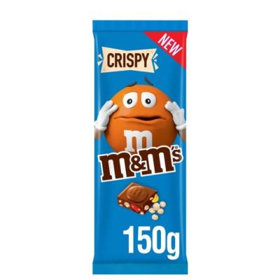 M&M's Crispy Milk Chocolate Block 150G