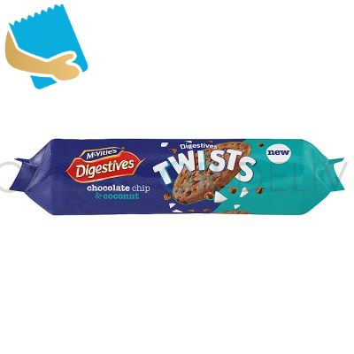McVitie's Digestives Twists Chocolate Chip & Coconut Biscuits 276g