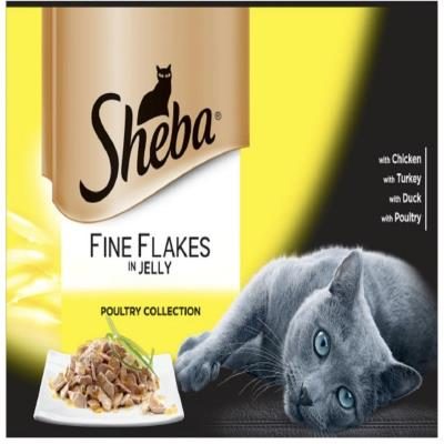 Sheba Fine Flakes Pouches Poultry In Jelly 12X85g