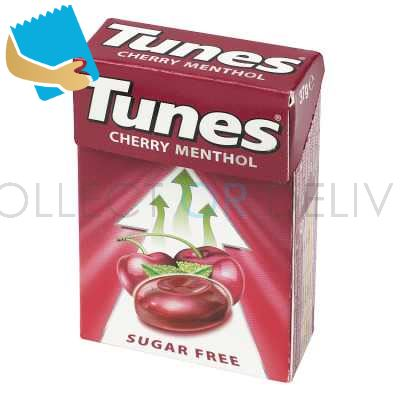 Tunes Cherry Menthol Sugar Free Cough Sweets Handy Box 37G