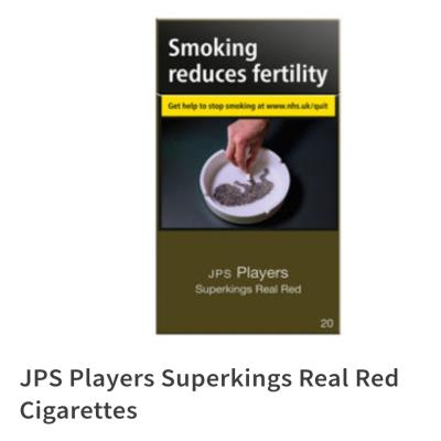 JPS Players Real Red Superking