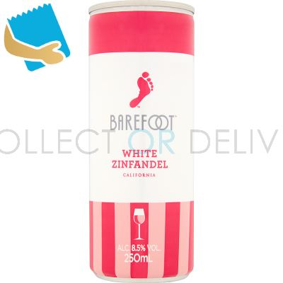 Barefoot White Zinfandel Cans