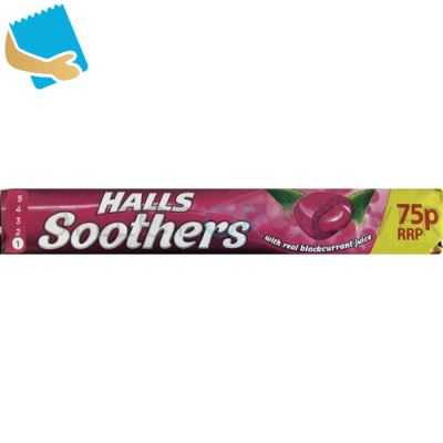 Halls Soothers Blackcurrant Sweets 45g
