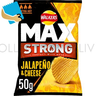Walkers Max Strong Jalapeño & Cheese Crisps 50g