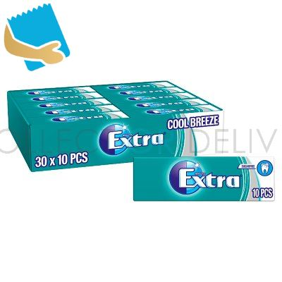 Extra Cool Breeze Chewing Gum Sugar Free 10 pieces