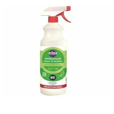 Nilco Professional Antibacterial Cleaner and Sanitiser Surface Spray 1 Litre